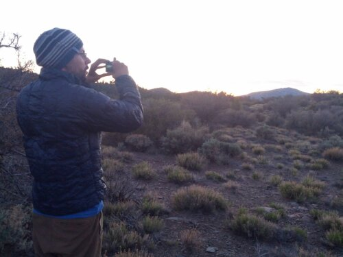 Luke takes a sunset picture
